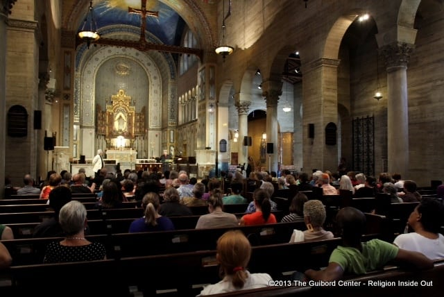 women and violence from a biblical perspective with Amy Jill Levine at St. John's Cathedral Los Angeles