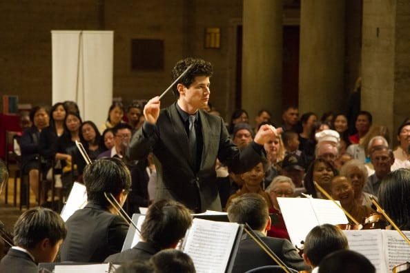 Youth Symphony Orchestra conductor Jorge Luis Uzgategui