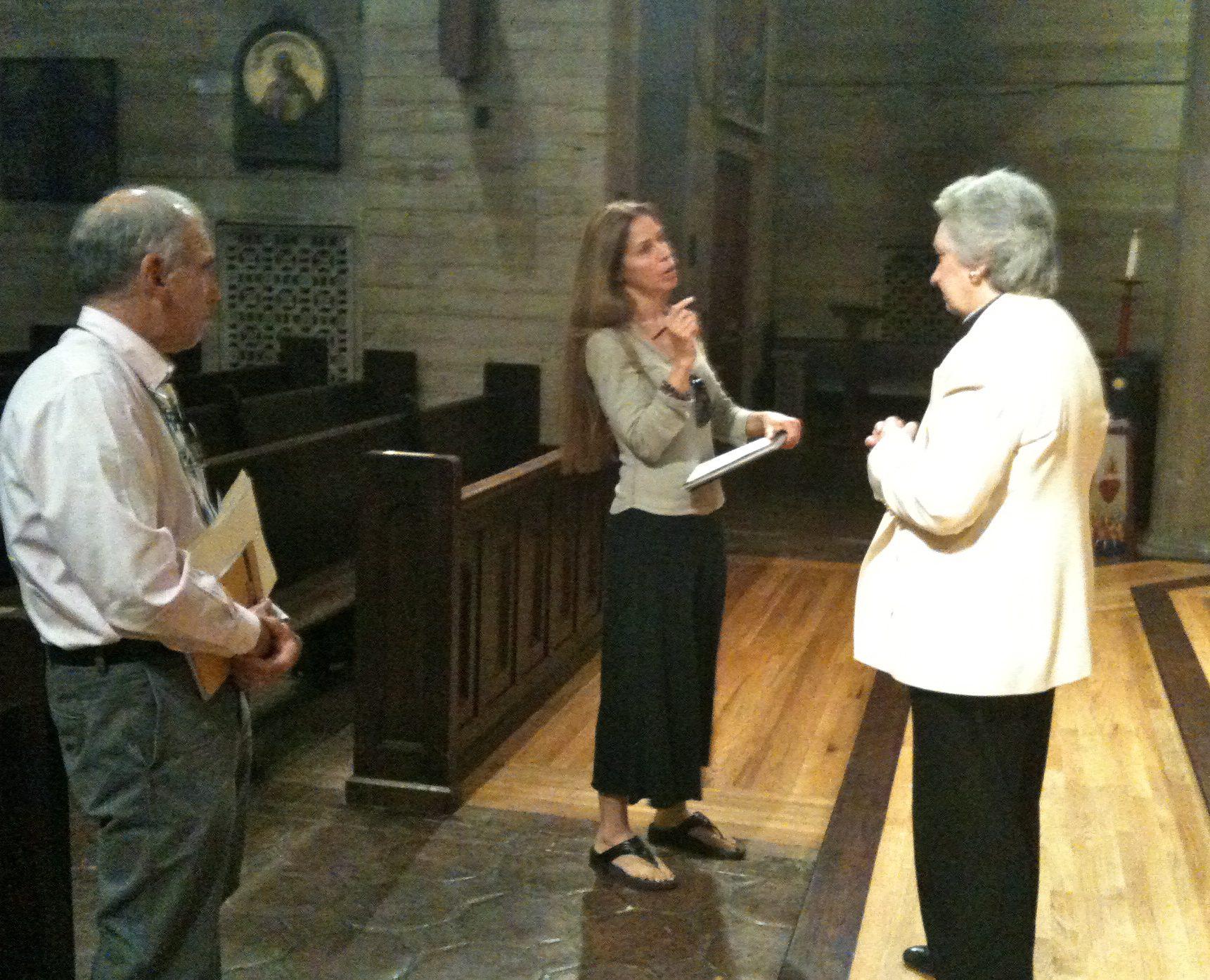 Filmmaker Jennifer Jessum, Rabbi Neil Comess-Daniels, Rev. Dr. Gwynne Guibord