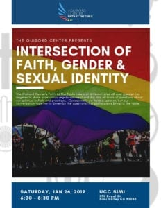 Faith at the Table: The Intersection of Faith, Gender and Sexual Identity @ UCC Simi