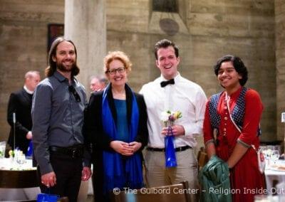 Peter Kretzmann (Ananda Los Angeles), Dr. Lisa Patriquin, Keshava Betts (Ananda Los Angeles) and Riyana Roy (Hindu Middle Schooler)