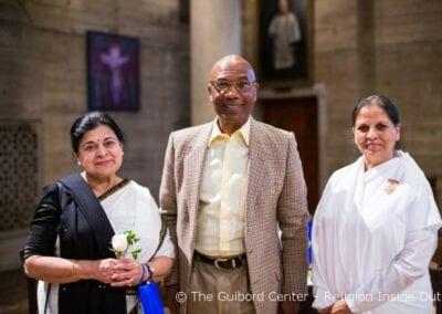 Board Directors Dr. Rini Ghosh and James Nash with Brahma Kumaris Sister Gita