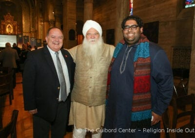 Canon Robert Williams (Episcopal Diocese of Los Angeles) with friends and colleagues Nirijan Singh Khalsa and Tahil Sharma