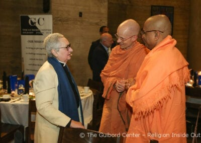 Rev. Dr. Guibord in conversation with swamis Mahayoganada and Tadananda from the Vedanta Society