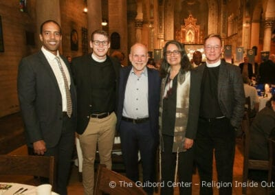 Rabbi Neal Comess-Daniels, center, Rabbi Suzanne Singer and the Very Rev'd Canon Mark Kowalewski, Dean of St. John's Cathedral