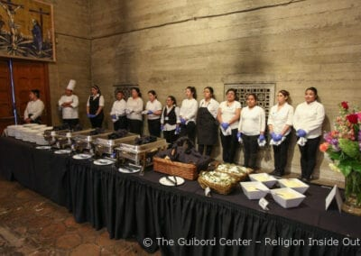 Staffing for the dinner came from the Maria Suarez Foundation to End Human Trafficking and Emanate Health