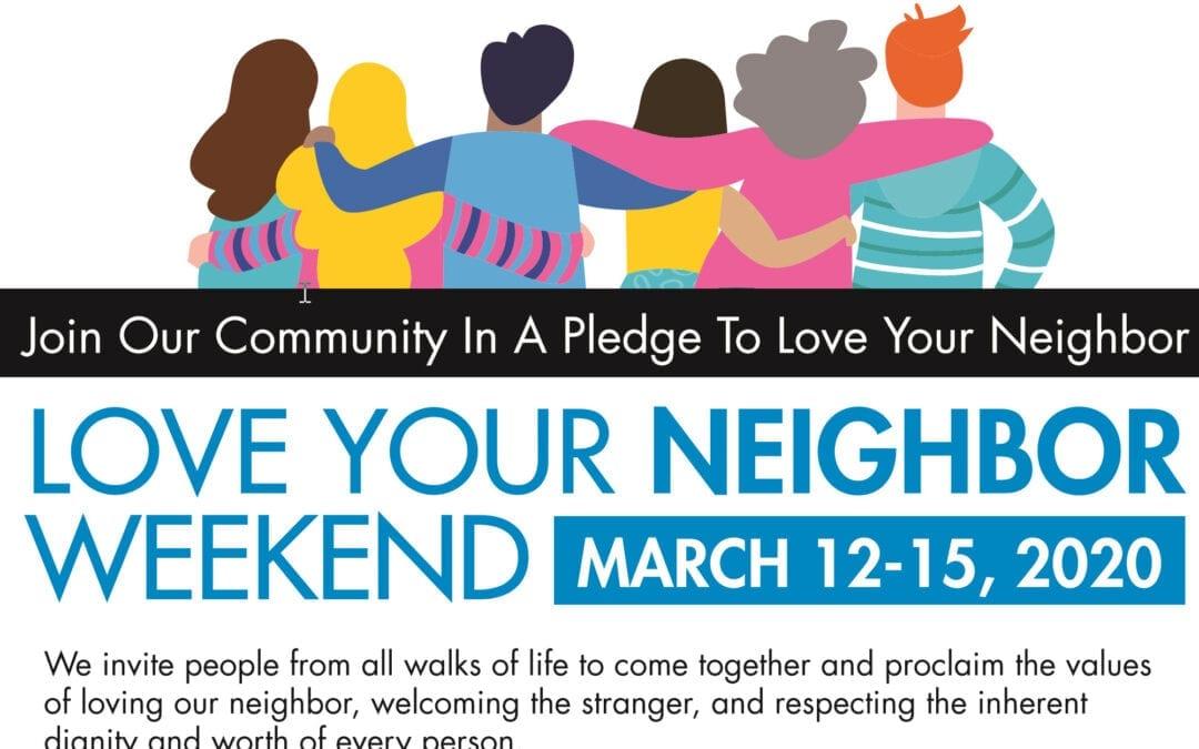 Love Your Neighbor Weekend  Interfaith Gathering