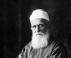 Portrait of 'Abdu'l-Bahá taken in Paris, France, October 1911. User:Qian.neewan, public domain, via Wikimedia Commons